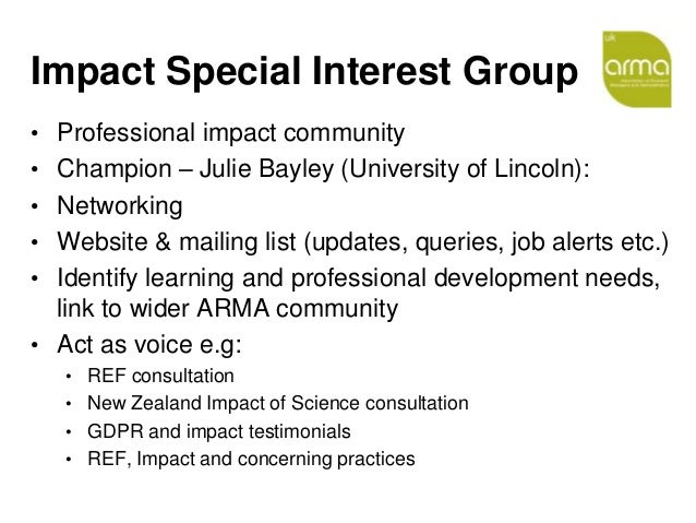 INORMS 18 - Impact Special Interest group Slide 2