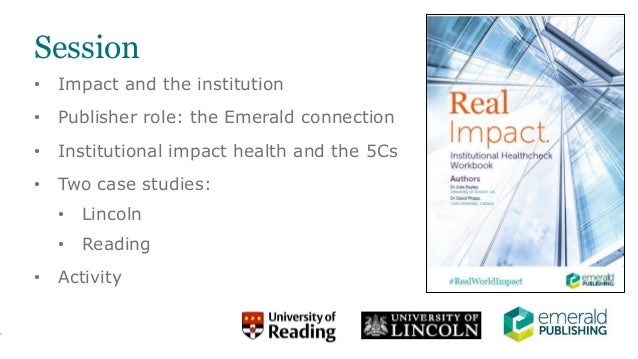 INORMS 18: An Institutional Health Check for impact: diagnosing and prescribing institutional impact support Slide 2