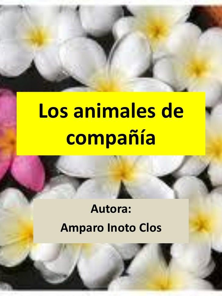 Los animales de   compañía      Autora:  Amparo Inoto Clos