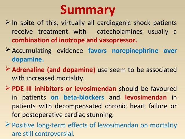 Inotropes and vasopressors in cardiogenic shock