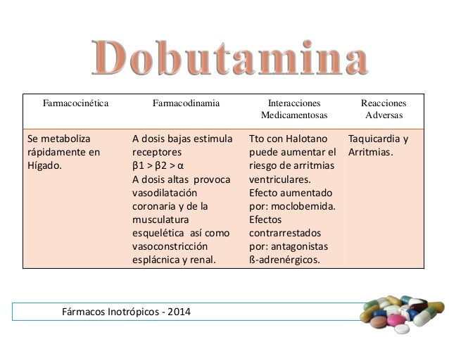 DOBUTAMINA FARMACODINAMIA PDF