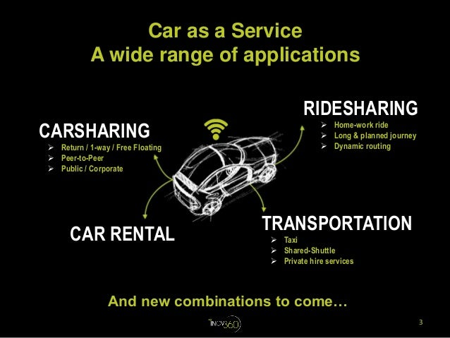 Car as a Service : a booming portfolio of services to expand mobility and driving experiences Slide 3