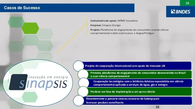38 38 Recentemente a parceria venceu concurso da Sabesp para fornecer produto semelhante Projeto de cooperação internacion...