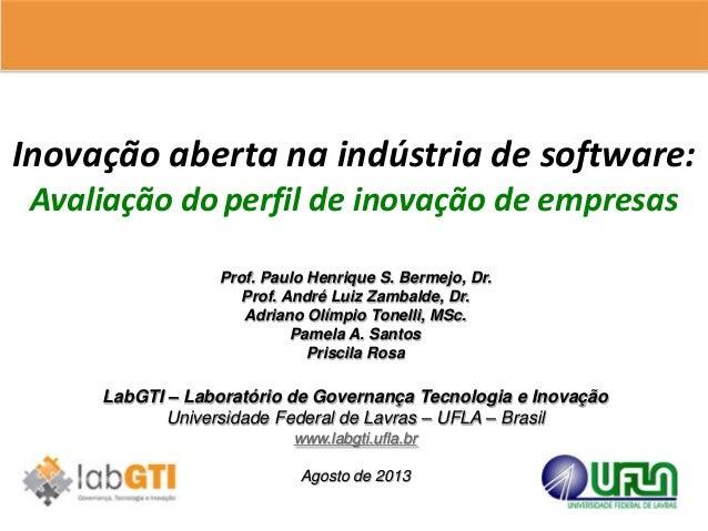 Prof. Paulo Henrique S. Bermejo, Dr. Prof. André Luiz Zambalde, Dr. Adriano Olímpio Tonelli, MSc. Pamela A. Santos Priscil...