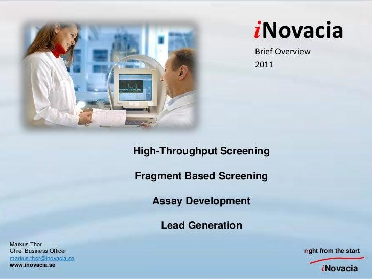 iNovacia                                                 Brief Overview                                                 20...