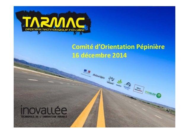 Comitéd'OrientationPépinière 16décembre2014 TECHNOPOLE DE L'INNOVATION DURABLETECHNOPOLE DE L'INNOVATION DURABLE