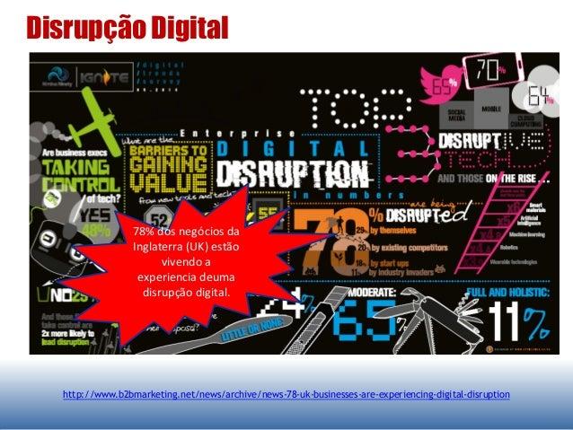 Disrupção Digital http://www.b2bmarketing.net/news/archive/news-78-uk-businesses-are-experiencing-digital-disruption 78% d...