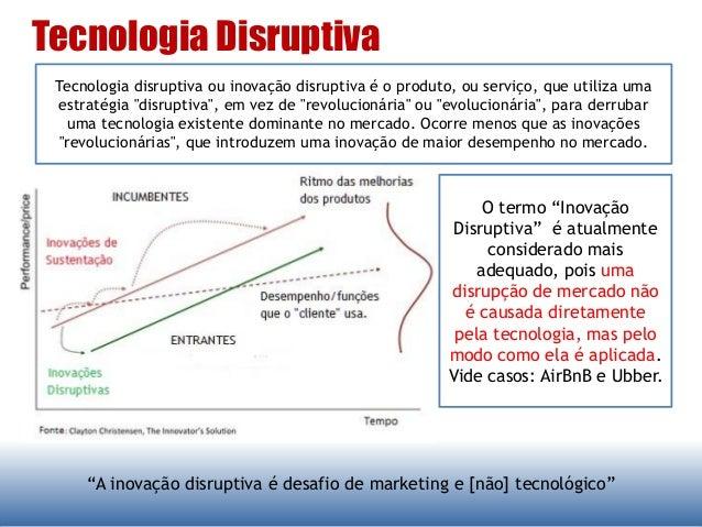 """Tecnologia Disruptiva """"A inovação disruptiva é desafio de marketing e [não] tecnológico"""" Tecnologia disruptiva ou inovação..."""