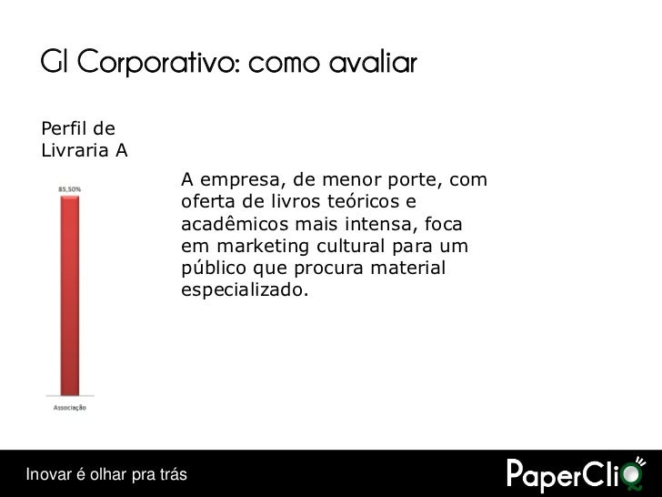 GI Corporativo: como avaliar   Perfil de   Livraria A                       A empresa, de menor porte, com                ...