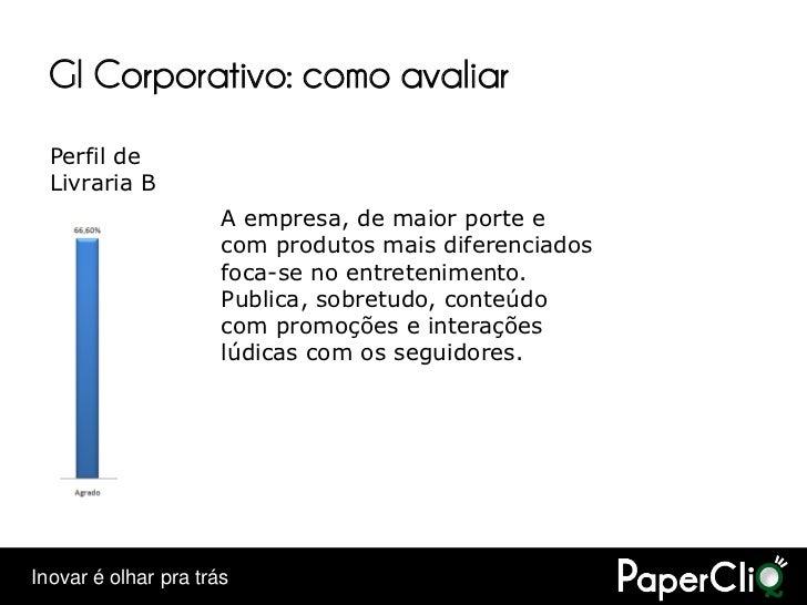 GI Corporativo: como avaliar   Perfil de   Livraria B                       A empresa, de maior porte e                   ...