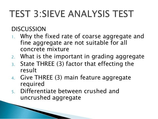 sieve analysis lab report