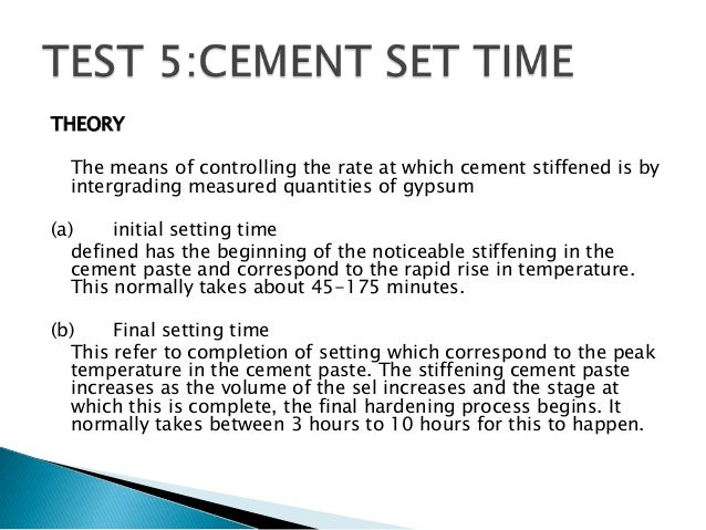 Cement Setting Time : Inovasi makmal