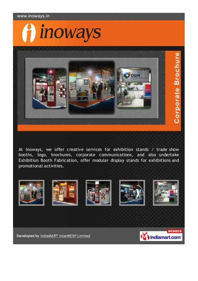 At Inoways, we offer creative services for exhibition stands / trade showbooths, logo, brochures, corporate communications...