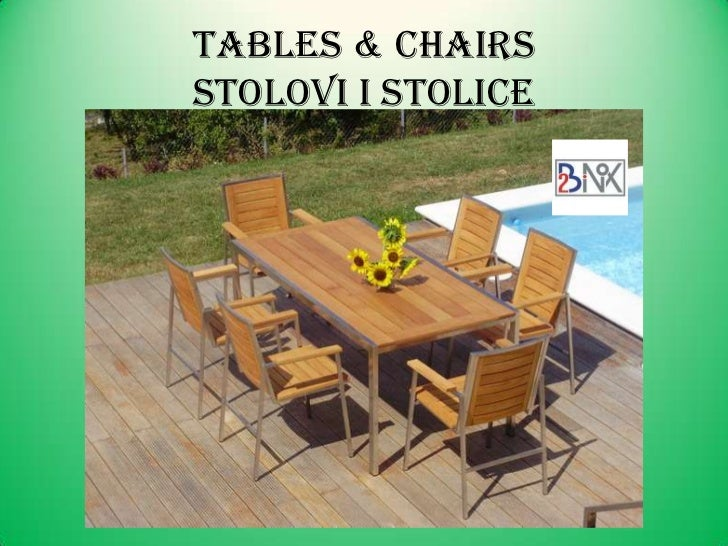 Tables U0026 ChairsstOLOVI I STOLICEu003cbr / ...