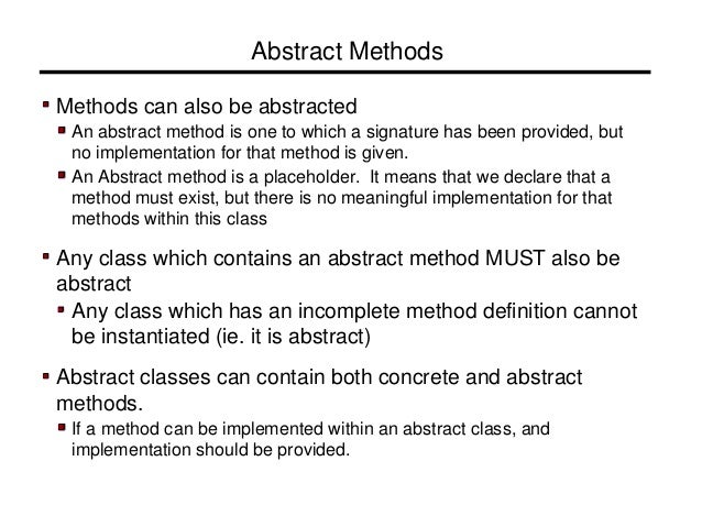 java abstract class example pdf