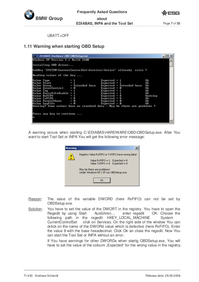 BMW INPA diagnostic interface FAQ