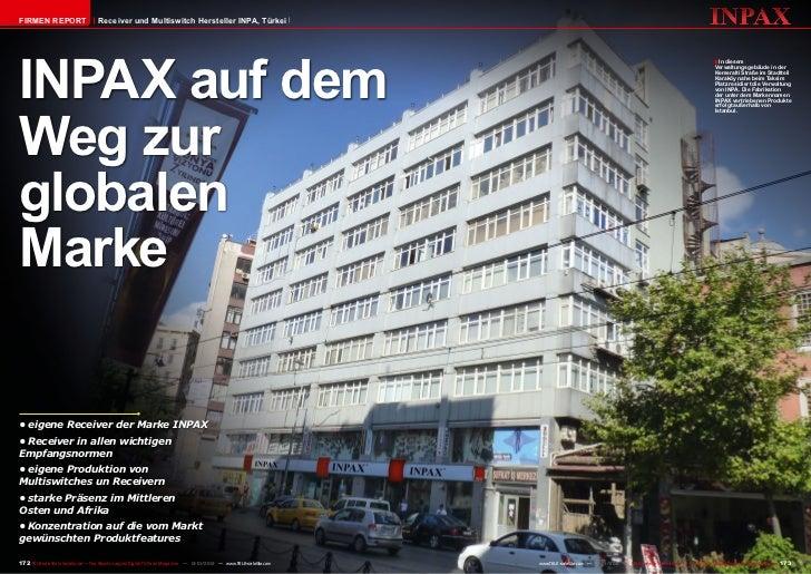Firmen Report                       Receiver und Multiswitch Hersteller INPA, TürkeiINPAX auf dem                         ...