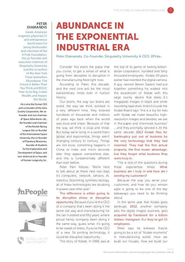 The Future of Manufacturing 2016