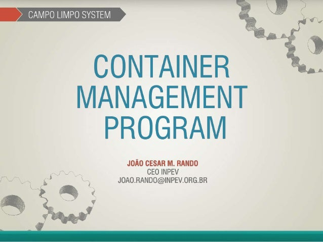 Container Management Program - João Cesar Rando