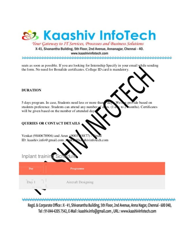 Inplant training for aeronautical engineering in chennai book your 2 seats spiritdancerdesigns Choice Image