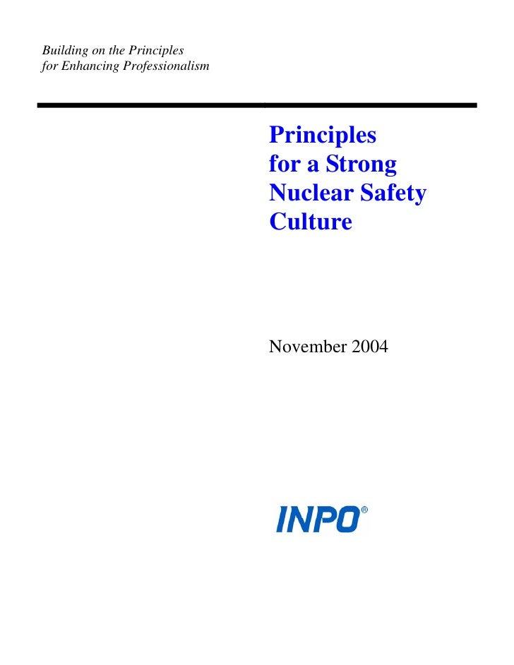 Building on the Principlesfor Enhancing Professionalism                                Principles                         ...