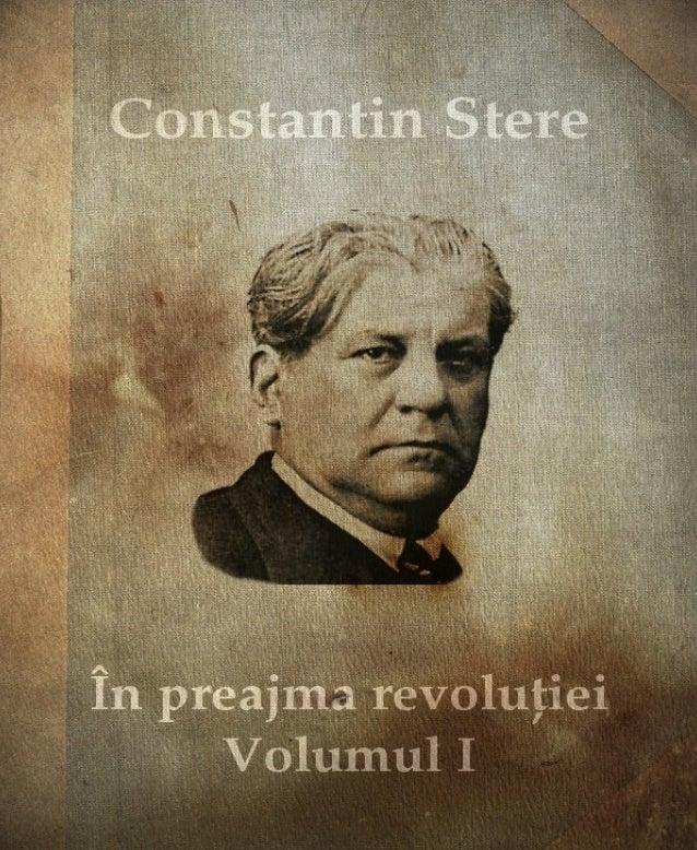 Constantin Stere În preajma revoluției Volumul I. Prolog. Smaragda