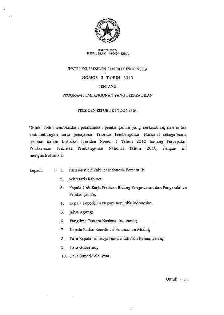 Instruksi Presiden Nomor 3 Tahun 2010, Pencapaian Tujuan MDGs