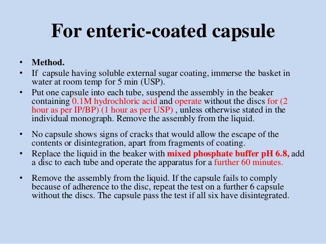 Inprocess as per usp ip bp capsule