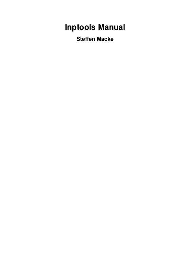 Inptools Manual Steffen Macke