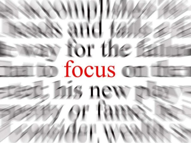 IN PURSUIT OF FOCUS WEDNESDAY FEBRUARY 12, 2014