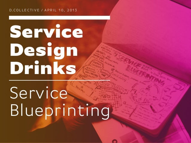 D.COLLECTIVE / APRIL 10, 2013ServiceDesignDrinksServiceBlueprinting