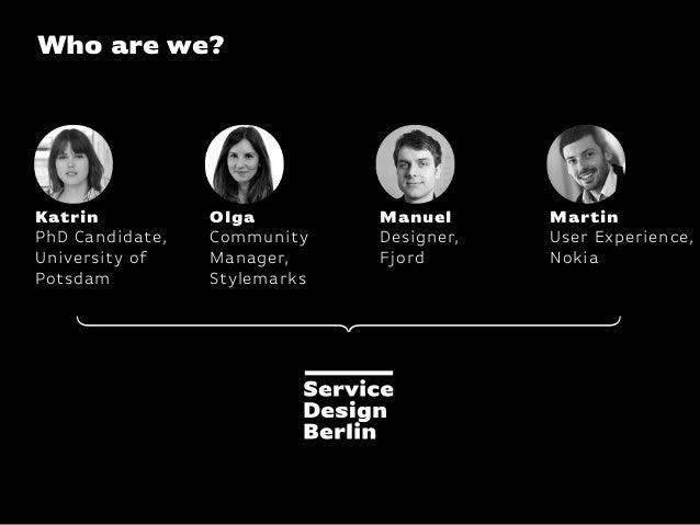 Service Blueprinting / Service Design Drinks Berlin Slide 3