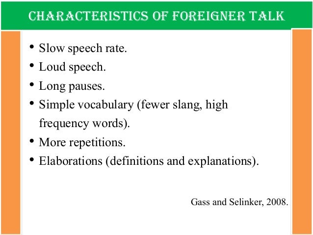 ... Foreigner Talk Instructional Text Book Language; 11.