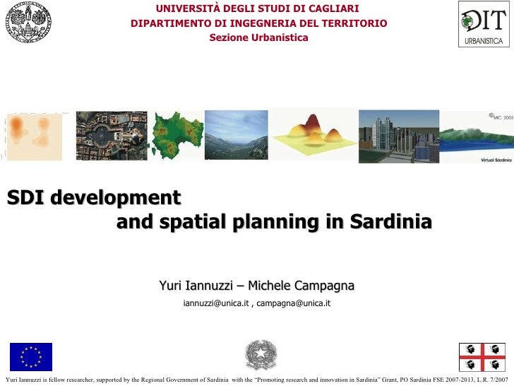 SDI development and spatial planning in Sardinia, di Yuri Iannuzzi, Michele Campagna