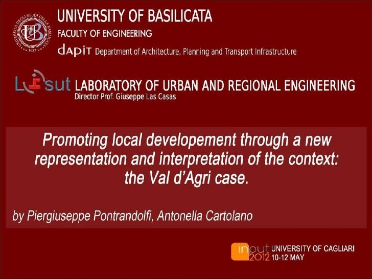  RELEVANT TERRITORIES PROMOTING LOCAL  DEVELOPMENT POLICIES THE SUPRA-MUNICIPAL LEVEL FOR  EFFECTIVE LOCAL POLICIES THE...