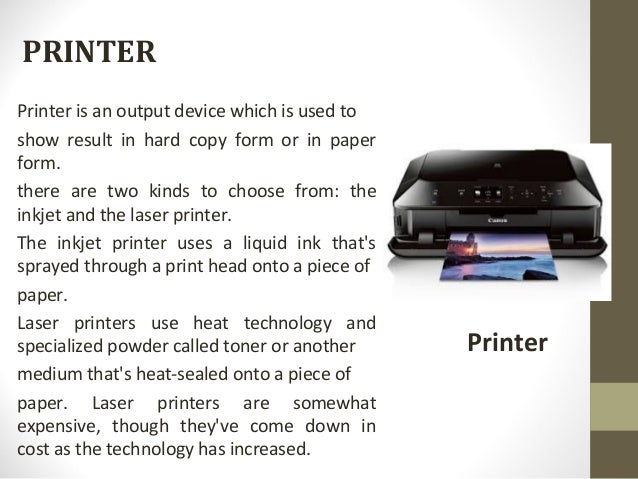 Is a printer a input or output device