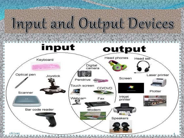input and output devices of a How do we tell what is an input and what is an output device think about it from the computer's perspective if a device is putting data into the computer in the.