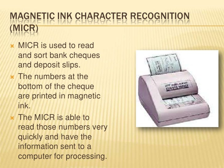Magnetic ink character recognition micr essay
