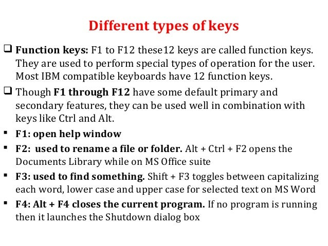how to change the keyboard key function