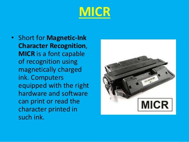 What Does MICR Stand For? - MICR Line Explained