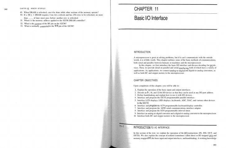 382   CHAPTER 10   MEMORY INTERFACE        49. When DRAM is refreshed, can it be done while other sections of the memory o...