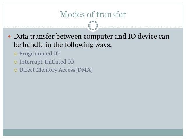 Input Output Organization Slide 11