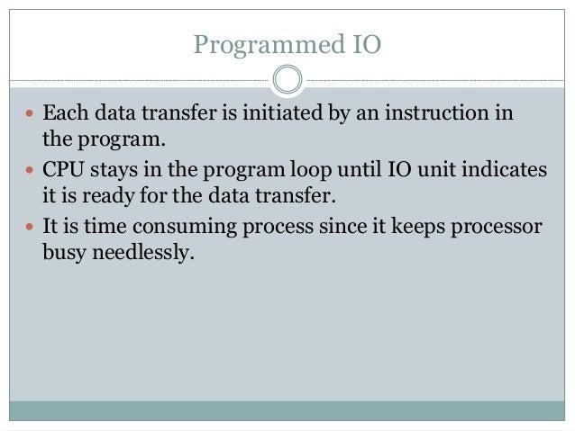 Example of programmed IO