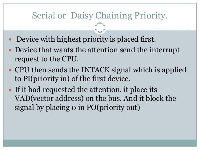  If not it pass the signal to next device through PO(priority out) by placing 1.  This process is continued until approp...