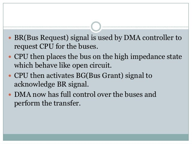  Control Register specify the mode of transfer.  DMA is first initialized by CPU. After that DMA continue to transfer da...