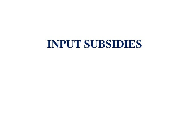 direct and indirect farm subsidies in india pdf