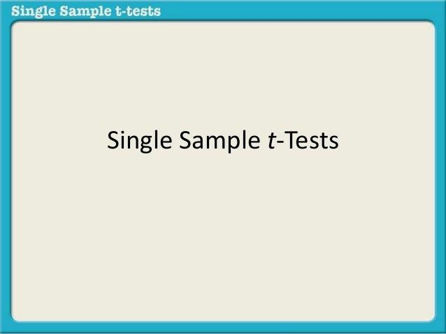Single Sample t-Tests