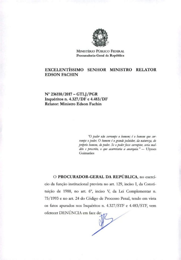 MINISTÉRIO PÚBLICO FEDERAL Procuradoria-Geral da República EXCELENTÍSSIMO SENHOR MINISTRO RELATOR EDSON FACHIN N° 236110/2...