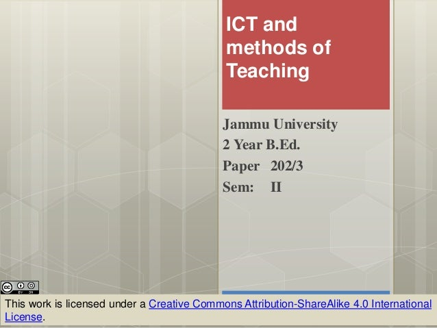 ict methods Approaches to evaluating the effect of ict on student learning rob phillips and tony gilding introduction this starter guide gives a broad overview of issues surrounding the evaluation of the effectiveness of information and communications technology (ict) environments unfortunately, there is no ' magic bullet' which.