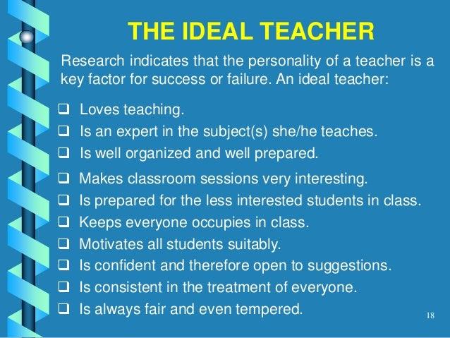 What makes an ideal teacher essay